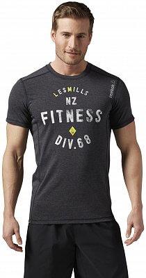 Pánské fitness tričko Reebok Les Mills Poly Cotton Tee
