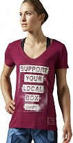 Reebok CrossFit Support Your Local Box V-neck Tee