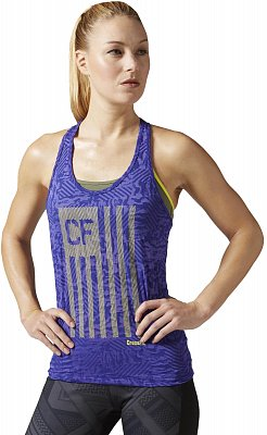 Dámské fitness tričko Reebok CrossFit Flag Camo Burnout Tank