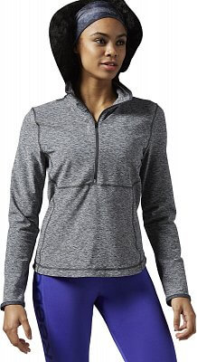 Dámské fitness tričko Reebok WorkOut Ready Long Sleeve 1/2 zip