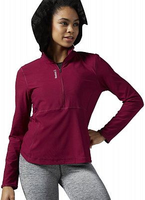 Reebok WorkOut Ready Long Sleeve 1/2 zip