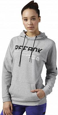 Dámská fitness mikina Reebok WorkOut Ready Cotton Series OTH Graphic Hoodi