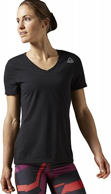 Dámské fitness tričko Reebok WorkOut Ready Stacked Logo Supremium Tee