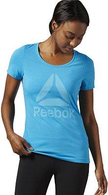 Dámské fitness tričko Reebok WorkOut Ready Big Logo Supremium Tee Crew