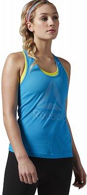 Dámské fitness tričko Reebok WorkOut Ready Big Logo Mesh Tank