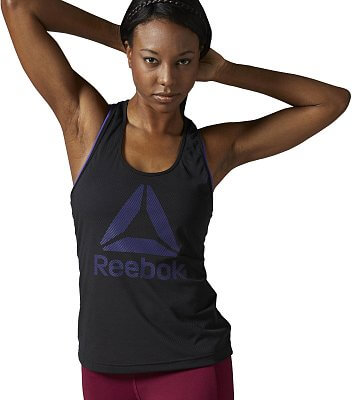 Reebok WorkOut Ready Big Logo Mesh Tank