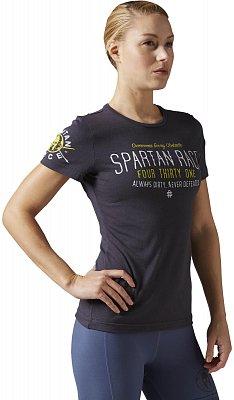 Dámské běžecké tričko Reebok Spartan Race Tri-blend Short Sleeve Tee 2