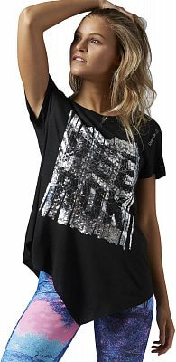 Dámské fitness tričko Reebok Dance Asymmetric Tee