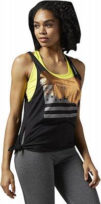 Dámské fitness tričko Reebok Yoga Tie Tank