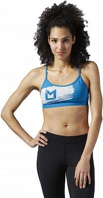 Sportovní podprsenka Reebok Les Mills Strappy Blue Bra