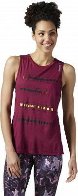 Dámské fitness tričko Reebok Les Mills Foil Muscle