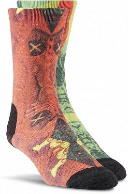 Sportovní ponožky Reebok CrossFit Womens Printed Crew Sock 1P