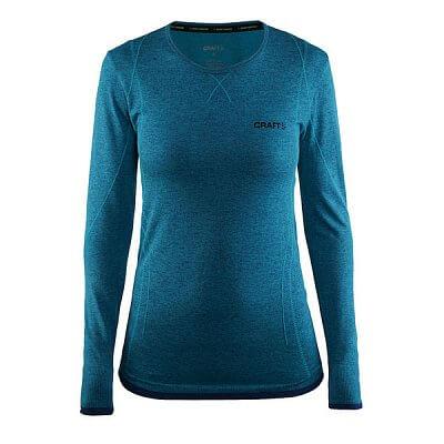 Dámské sportovní tričko Craft W Triko Active Comfort LS zelená