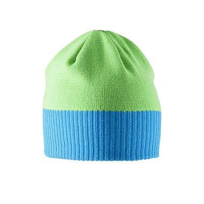 Craft Čepice Bormio modrá se zelenou