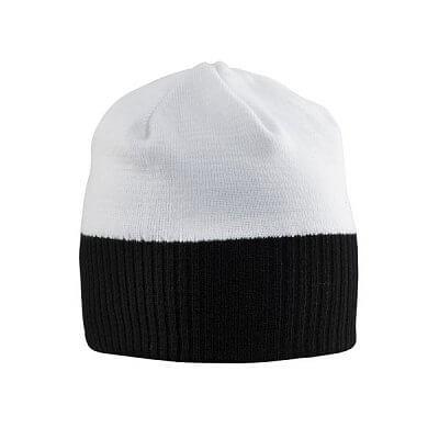 Čepice Craft Čepice Bormio černá s bílou