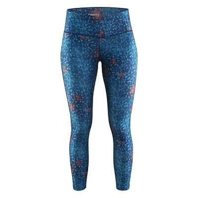 Kalhoty Craft W Kalhoty Pure Print 7/8 modrá potisk