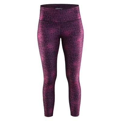Kalhoty Craft W Kalhoty Pure Print 7/8 fialová potisk