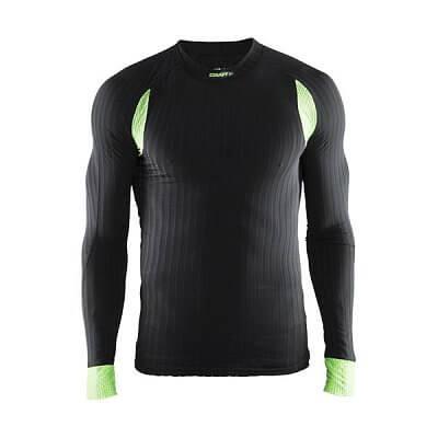 Pánské sportovní tričko Craft Triko Active Extreme 2.0 LS černá se zelenou