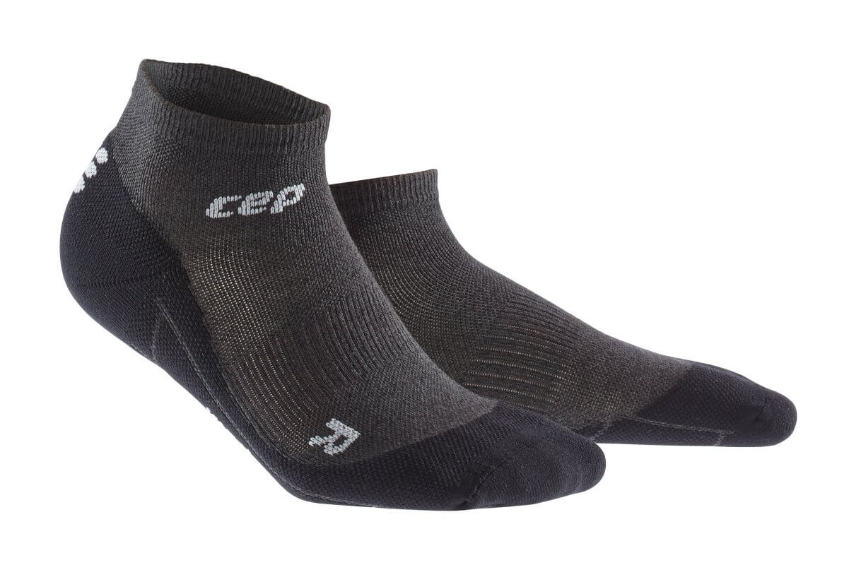 CEP Běžecké kotníkové ponožky merino dámské antracitová   černá ... 3b3596c878