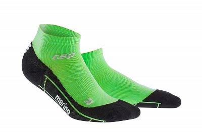 Ponožky CEP Běžecké kotníkové ponožky merino dámské viper / černá
