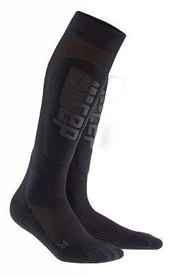 Ponožky CEP Lyžařské podkolenky RACE dámské černá / antracitová