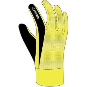 Běžecké rukavice Craft Rukavice Brilliant 2.0 Thermal žlutá