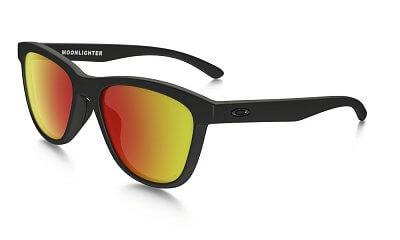 Sluneční brýle Oakley Moonlighter Matte Black w/Ruby Irid Pol