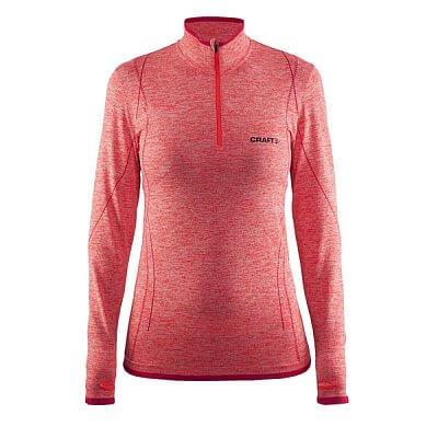 Trička Craft W Triko Active Comfort Zip LS oranžová