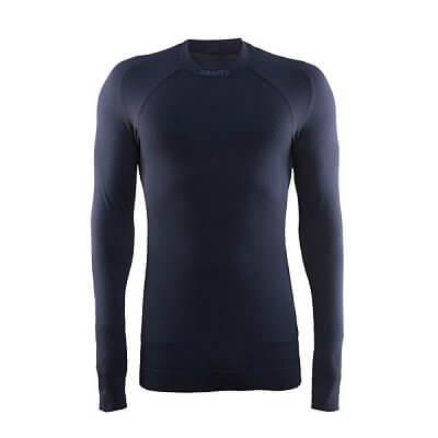 Pánské sportovní tričko Craft Triko Warm CN tmavě šedá