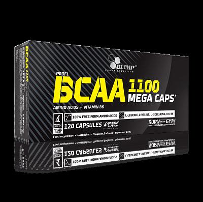 Aminokyseliny Olimp BCAA Mega Caps 1100, 120 kapslí