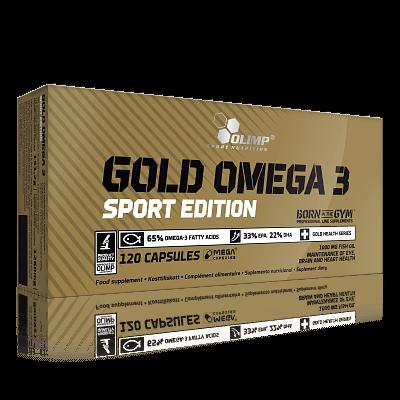 Vitamíny a minerály Olimp Gold Omega 3 Sport Edition, 120 kapslí