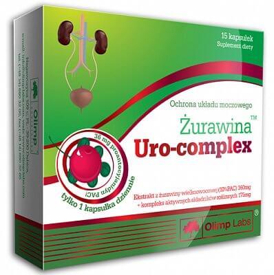 Vitamíny a minerály Olimp Uro-complex extrakt z brusinek, 15 kapslí
