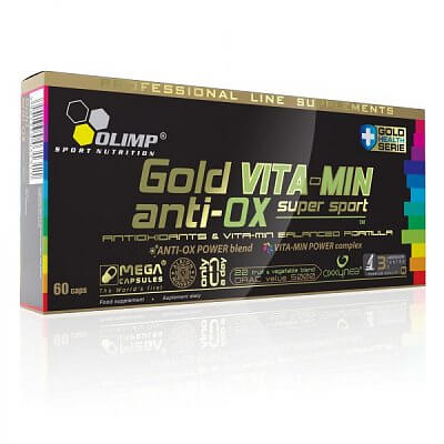 Vitamíny a minerály Olimp Gold Vita-Min anti-OX Supersport, 60 kapslí
