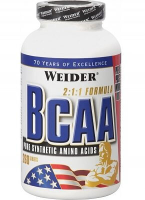 Aminokyseliny Weider All Free Form BCAA, 260 tablet