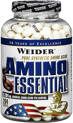 Výsledek obrázku pro Weider Amino Essential 204 kapslí
