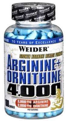 Aminokyseliny Weider Arginine + Ortnithine 4.000, 180 kapslí