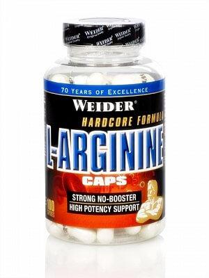 Aminokyseliny Weider L-Arginine Caps, 100 kapslí