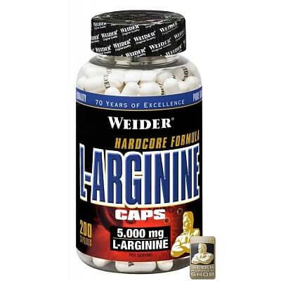 Aminokyseliny Weider L-Arginine Caps, 200 kapslí