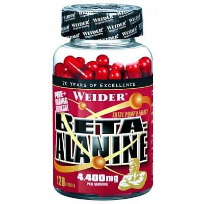 Aminokyseliny Weider Beta-Alanine, 120 kapslí