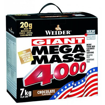 Sacharidy a gainery Weider Giant Mega Mass 4000 Gainer, 7000g