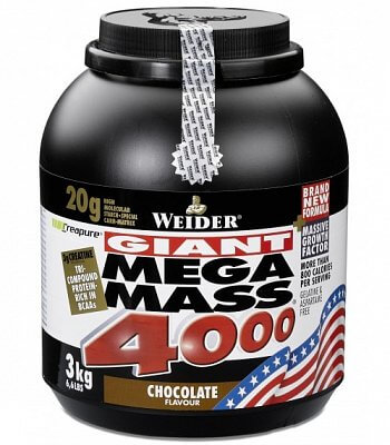 Sacharidy a gainery Weider Giant Mega Mass 4000 Gainer, 3000g