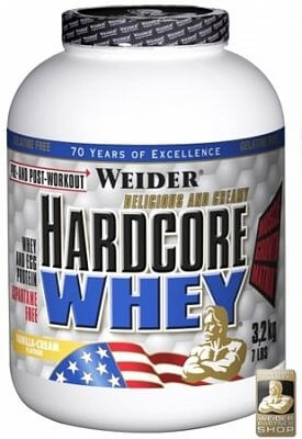 Sacharidy a gainery Weider Hardcore Whey Gainer, 3178g