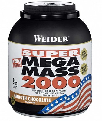 Sacharidy a gainery Weider Super Mega Mass 2000 Gainer, 3000g