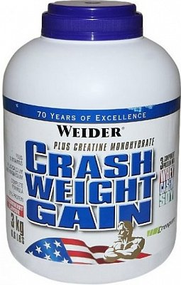 Sacharidy a gainery Weider Crash Weight Gain, 3000g