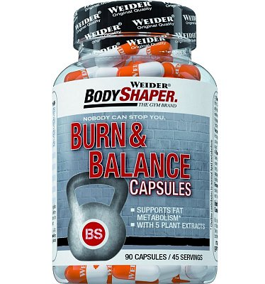 Spalovače tuků Weider Burn & Balance Capsules, 90 kapslí