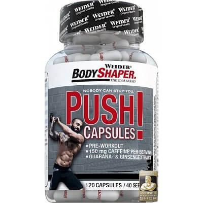 Anabolizéry a stimulanty Weider Push! Capsules, 120 kapslí