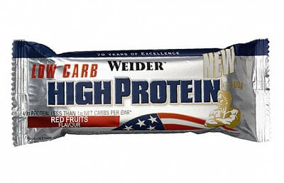 Tyčinky Weider Low Carb High Protein, 100g