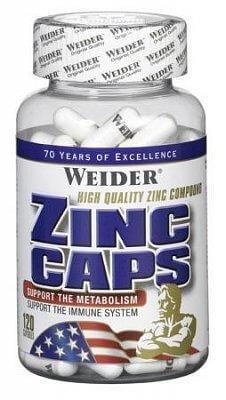 Vitamíny a minerály Weider Zinc Caps, 120 kapslí