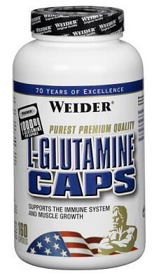 Aminokyseliny Weider L-Glutamine Caps, 160 kps