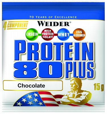 Proteiny - bílkoviny Weider Protein 80 Plus, 15g